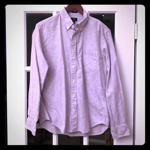 Slim fit J crew cotton/linen shirt size M